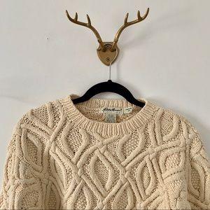 Beige Eddie Bauer Knit Sweater